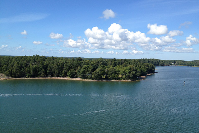 View cruising from Turku to the Åland Islands in the Gulf of Bothnia in the Baltic Sea.