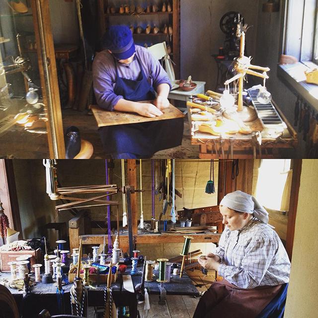Craftsmen working at the Luostarinmäki Handicrafts Museum in Turku, Finland