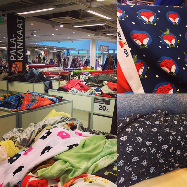 Eurokangas Fabric Store in Turku, FInland