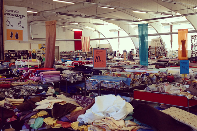 Jätti-Rätti Fabric Warehouse in Turku, Finland