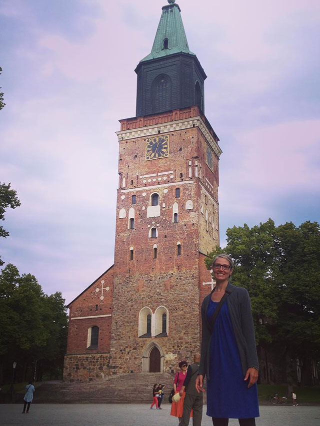 Outside of the Turku Cathedral in Turku, Finland.