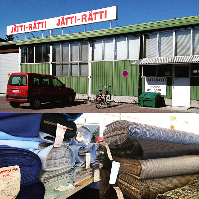Jätti-Rätti Fabric Warehouse in Turku, Finland